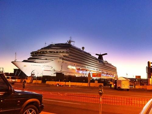 Carnival Cruise Ship Splendor Arrives at Port of San Diego