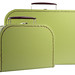 Green Paper Suitcases