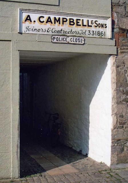 """Kirkcudbright  """"Police Close"""""""