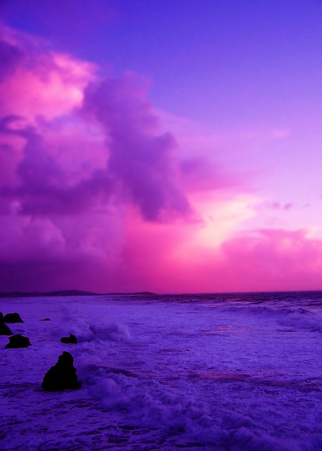 purple ocean sunset flickr photo sharing