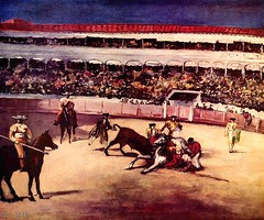 tradition(0.0), performing arts(0.0), bullfighting(0.0), animal sports(1.0), sport venue(1.0), sports(1.0), bullring(1.0), entertainment(1.0), matador(1.0), performance(1.0),