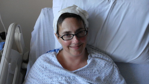 Great picture of Amber after her head surgery Creative Commons: Some Rights Reserved. Photo by dionhinchcliffe