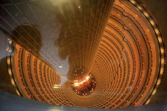 לובי מלון האייט בשנחאי, צילום: אדריכל מרסל קלוגמן