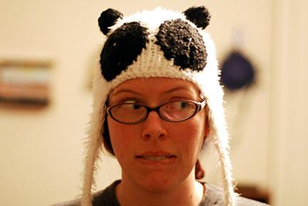 flappy panda hat