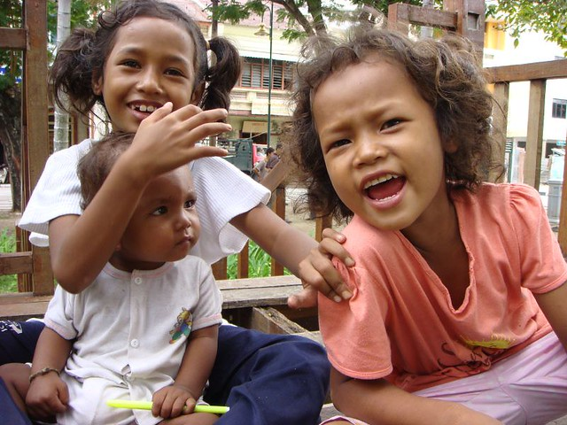 Local kids in Georgetown, Malaysia.