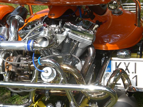 Harley Davidson trike engine