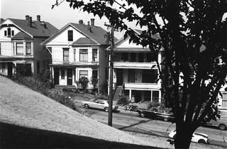Old houses, Portland, Oregon (USA), 1967
