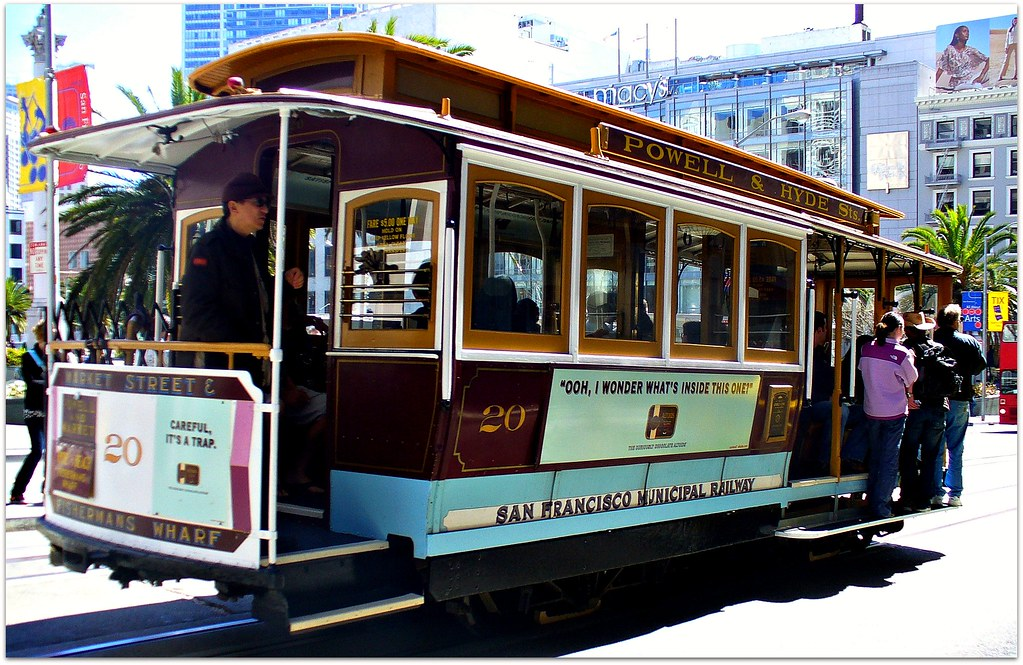 Cable Car Passing By, San Francisco, California