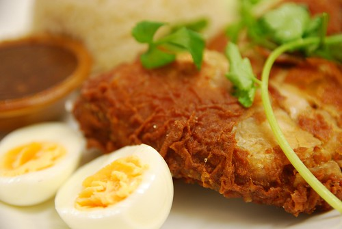 Thai-style Hainanese Crispy Fried Chicken Rice - close-up - Chilli Cafe AUD11.90