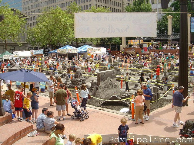 Sand in the City, Pioneer Square, Portland, Oregon