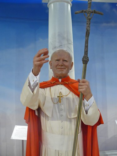 Pope John Paul II at Madame Tussaud's in New York