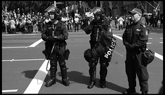APEC - Riot Police with Pepper Spray Dispensers?