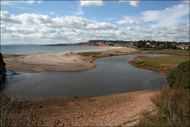 The River Otter, Budleigh Salterton