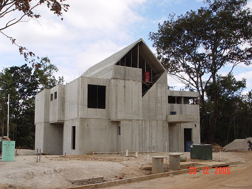 Concrete Home Construction In Guatemala A Photo On