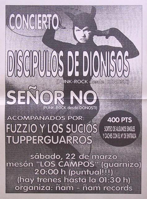 Discípulos De Dionisos+Señor No+Fuzzio Y Los Sucios+Tupperguarros