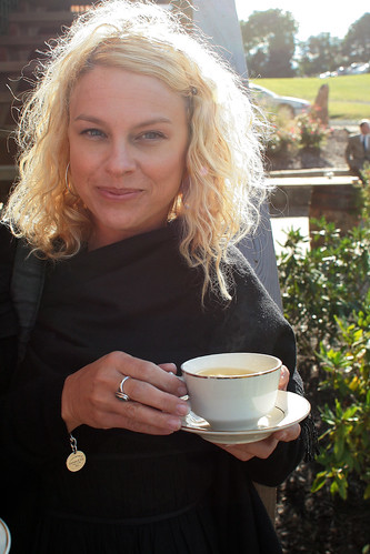 Sharon with Tea