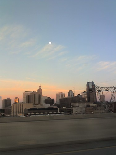 Moon Over Saint Paul