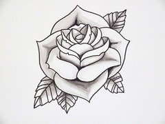 Rose Tattoo Design Outline