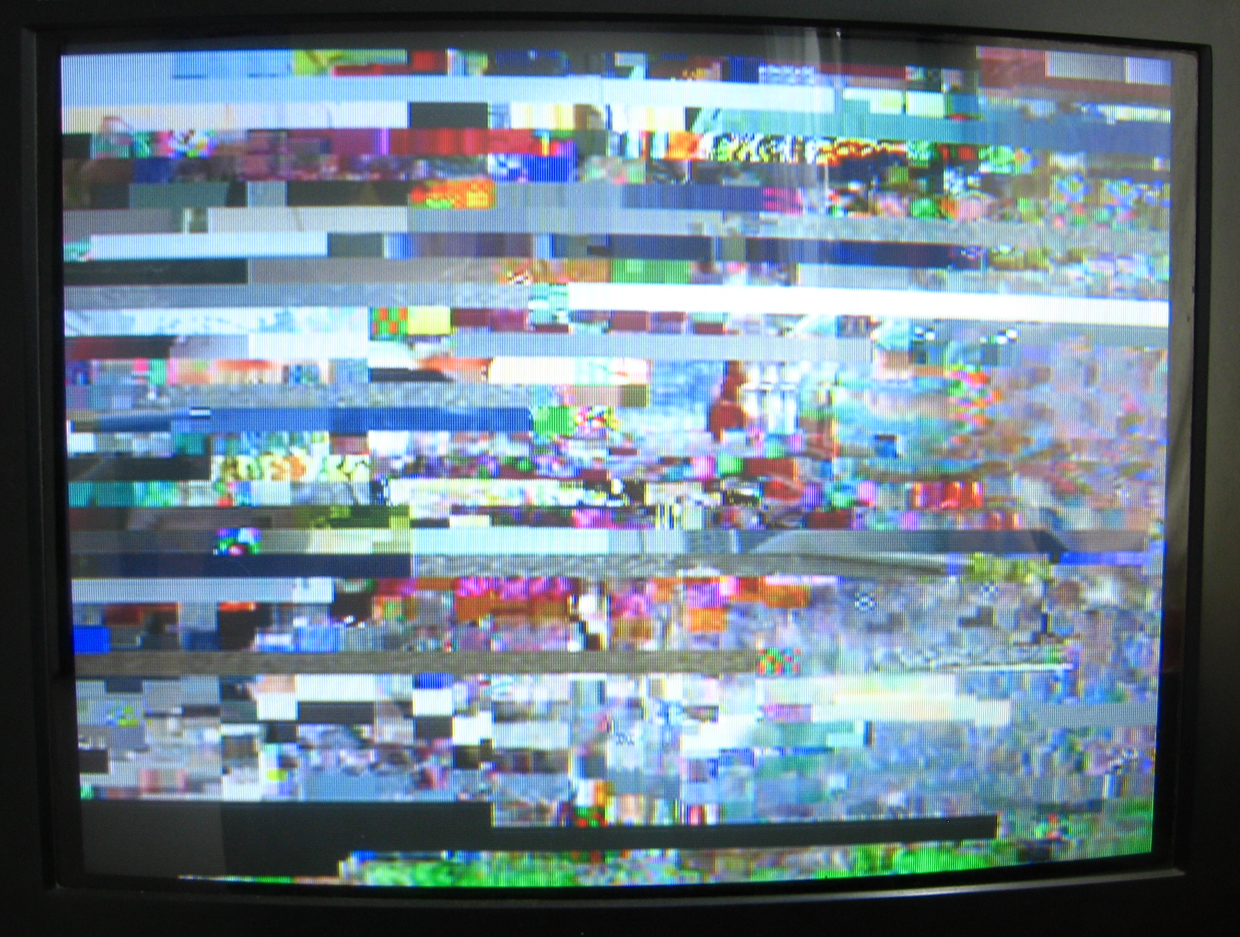 TV with scrambled picture