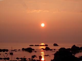 Coucher de soleil à Meneham
