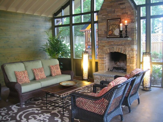 Screened Porch In Nashville Tennessee By Cke Interior Design Flickr Photo Sharing
