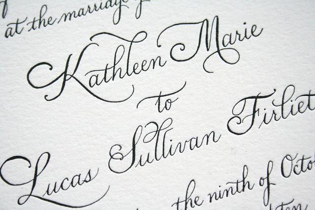 Classic Calligraphy Wedding Invitation