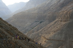 Hiking in Ein Gedi.