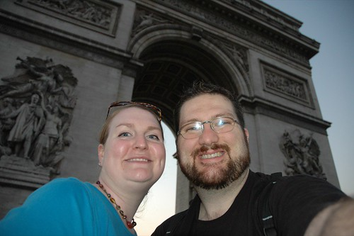 Us at the Arc de Triomphe