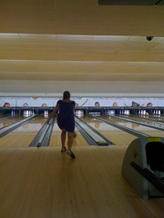 Lindsey bowling in a dress. Classy!