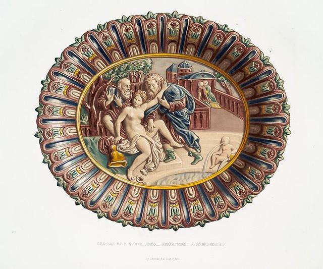 022-Susana y los viejos-pertenecientes al Sr. Beurdeley-Monographie de l'oeuvre de Bernard Palissy…1862