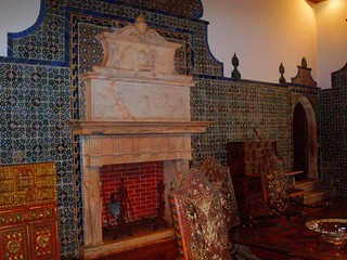 Image of Sintra National Palace near Sintra. portugal tile fireplace sintra grand palace unesco royalpalace nationalpalace unescoworldheritagesites
