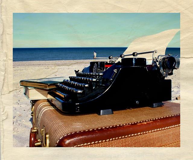 Typewriter On Beach One Flickr Photo Sharing