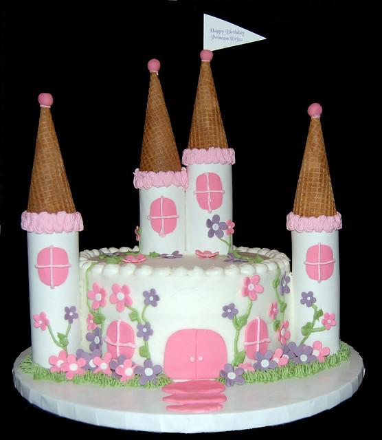 Simple Princess Castle Birthday Cakes
