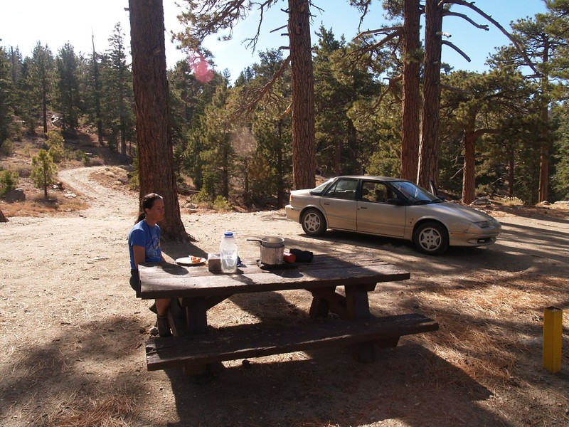 Lunch at the picnic table near Toro Campground