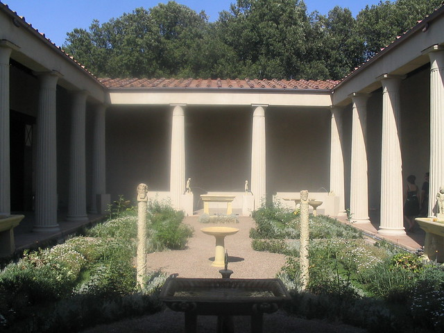 Roman House Reconstruction Of A Roman Courtyard At