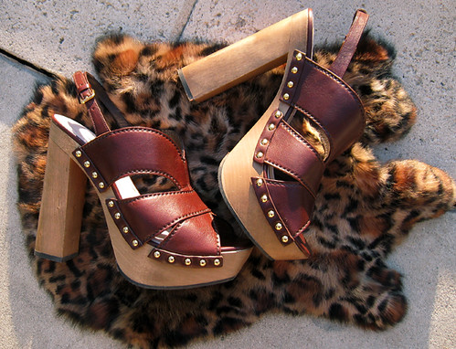 Miu Miu CLogs+platform studded sandals