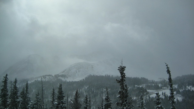 Mountains in the storm