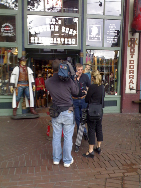 CTV Interview in Front of the Gastown Cowboy Store