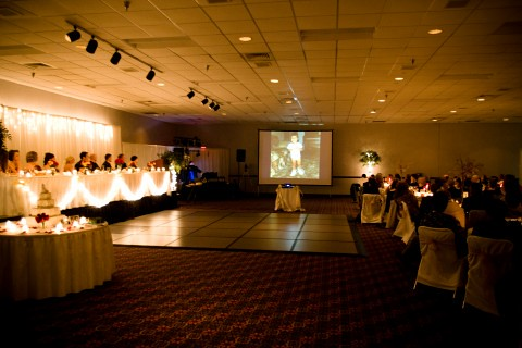 LaSalle Wedding Reception with video slideshow