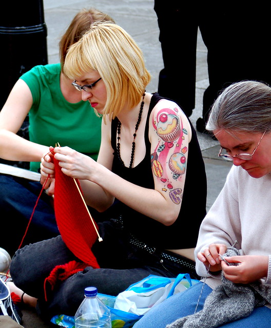 Knitting In Public : World wide knit in public day flickr photo sharing