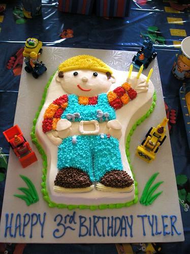 Gâteau d'anniversaire Bob le bricoleur