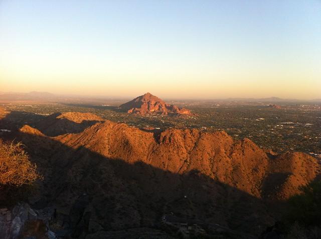 looking towards Camelback Mountain