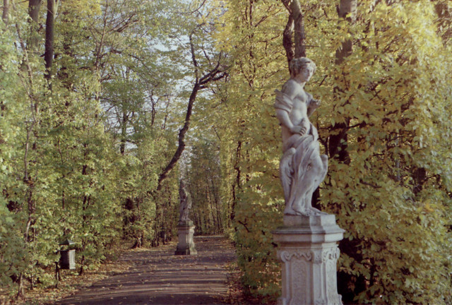 Statues du parc Wilanow à Varsovie. Photo d'Anna Maria Weronika.