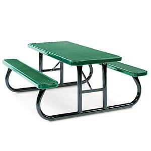 F1149 - 4' Rectangular Heavy-Duty Portable Picnic Table with Expanded Surface and Traditional Edge