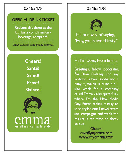 Dave's Drink Tickets