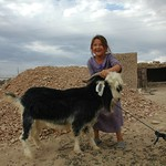 Girl with a Goat - Jerbent, Turkmenistan