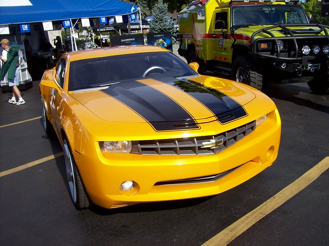 the bumblebee chevy camaro from the transformers movie flickr photo sharing. Black Bedroom Furniture Sets. Home Design Ideas