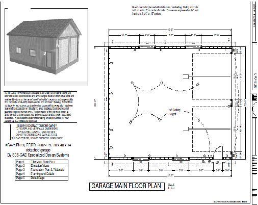 Rv garage plans g425 plans 30 x 40 x 14 detached rv for 30x40 garage apartment plans