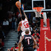 James Johnson goes for the block