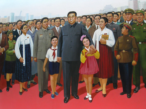 Deified North Korea Pyongyang Kim Il Sung Propaganda